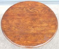 SOLD - Large Round Oak Coffee Table
